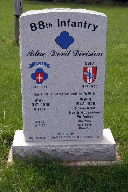 88th Infantry Marker - obverse image. Click for full size.