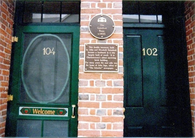 The Gainsford House Marker image. Click for full size.