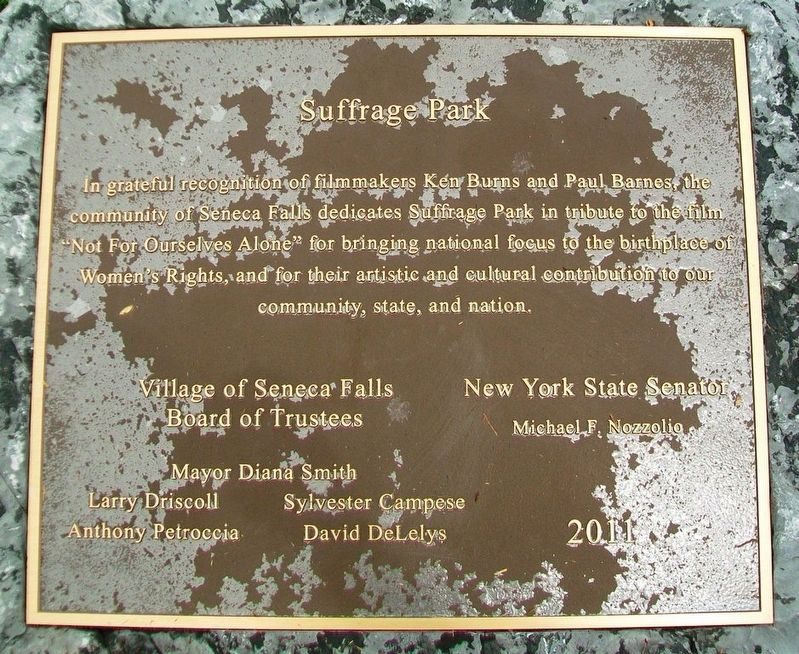 Suffrage Park Marker image. Click for full size.