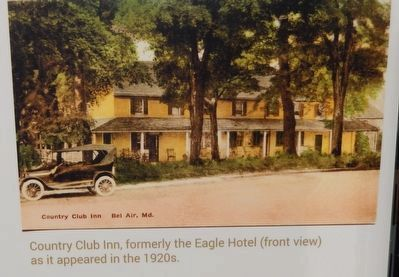 Country Club Inn, formerly the Eagle Hotel (front view) as it appeared in the 1920s. image. Click for full size.