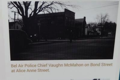 Bel Air Police Chief Vaughn McMahon on Bond Street at Alice Anne Street. image. Click for full size.