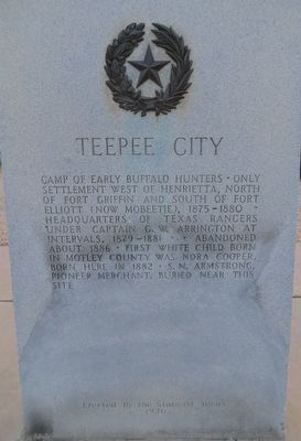 Teepee City Marker image. Click for full size.