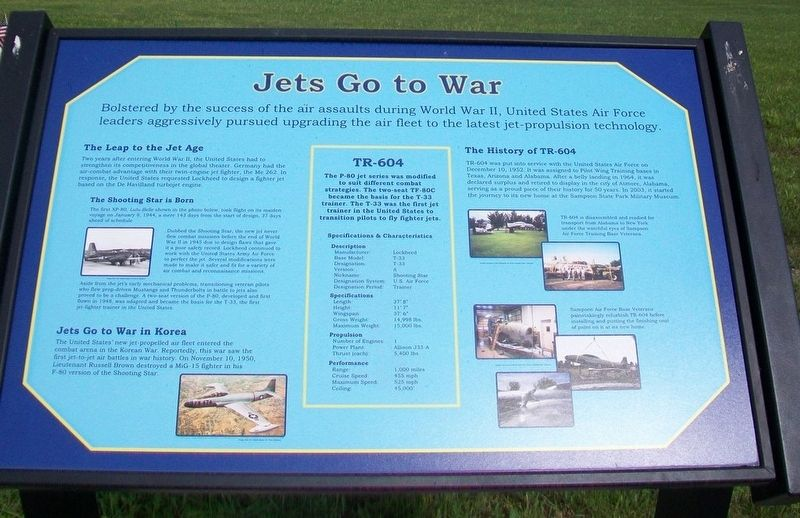 Jets Go To War Marker image. Click for full size.