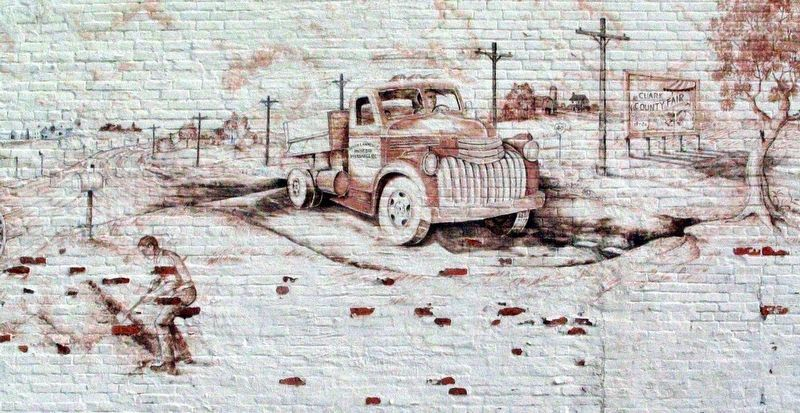 National Road / US 40 Mural<br>Marshall Illinois image. Click for full size.