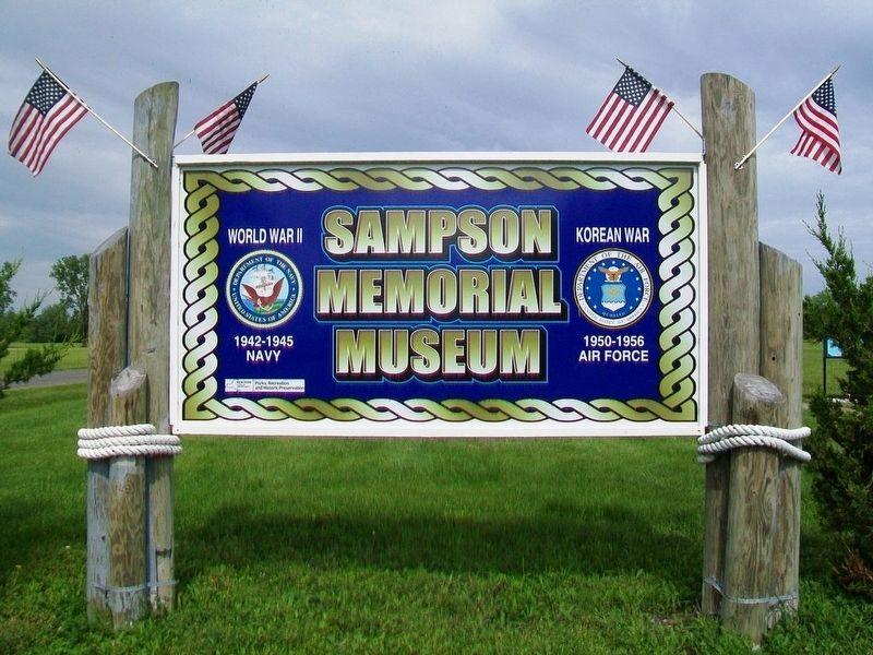 Sampson Memorial Museum Sign image. Click for full size.