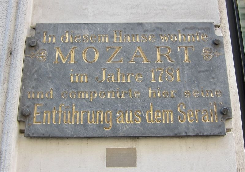 Mozart Lived Here Marker image. Click for full size.