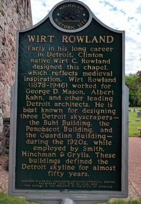 Riverside Mortuary Chapel / Wirt Rowland Marker - Side 2 image. Click for full size.