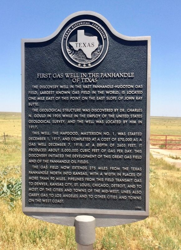 First Gas Well in the Panhandle of Texas Marker image. Click for full size.