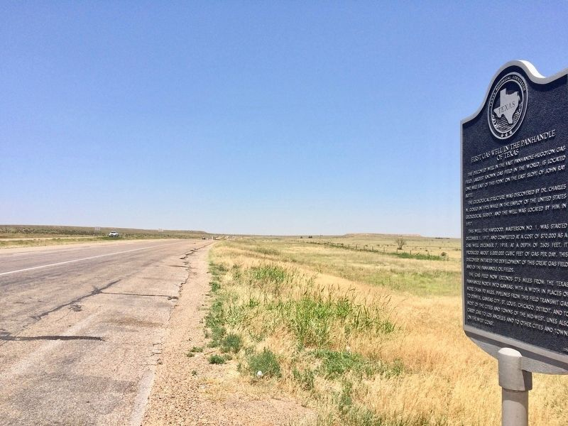 View from marker north on U.S. Highway 287/87. image. Click for full size.