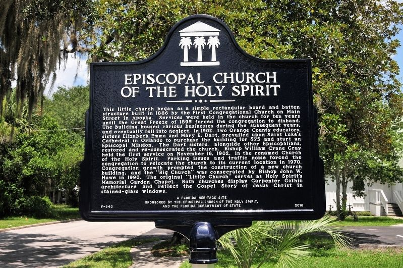 Episcopal Church of the Holy Spirit Marker image. Click for full size.