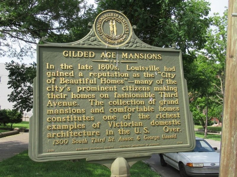 Gilded Age Mansions Marker image. Click for full size.