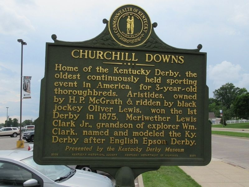 Churchill Downs Marker image. Click for full size.