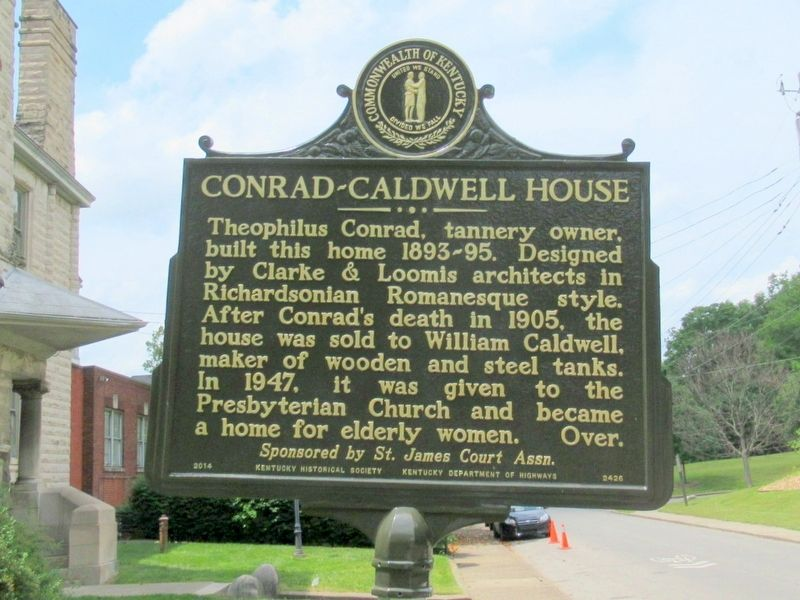 Conrad-Caldwell House Marker image. Click for full size.