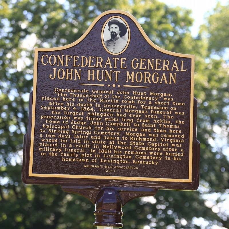 Confederate General John Hunt Morgan Marker image. Click for full size.