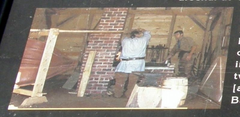 Insert - reenactors working at the forge image. Click for full size.