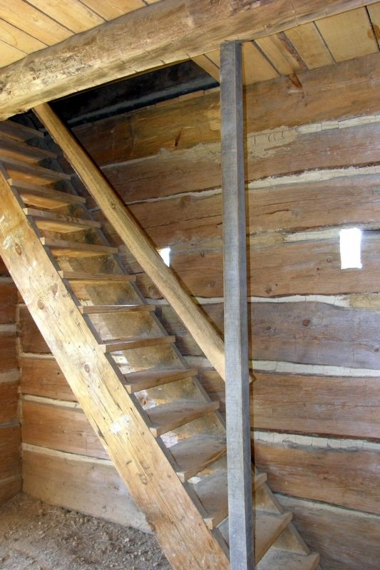Blockhouse interior - loopholes and stairs image. Click for full size.