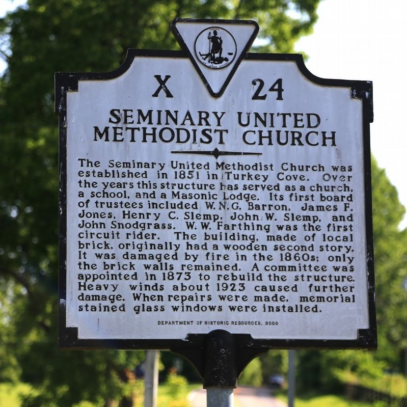 Seminary United Methodist Church Marker image. Click for full size.