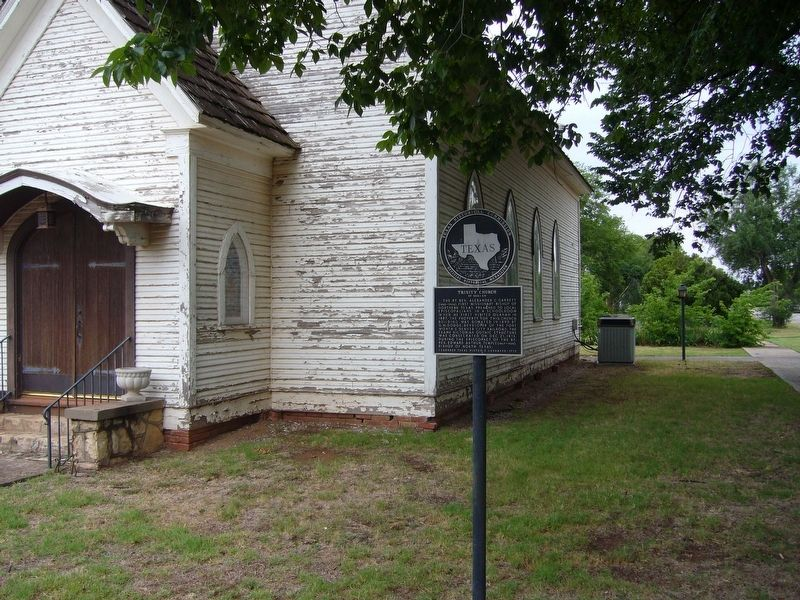 Trinity Church of Quanah Marker image. Click for full size.