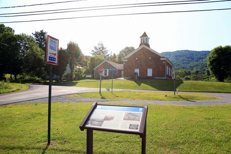 Turkey Cove Marker and Seminary United Methodist Church image. Click for full size.