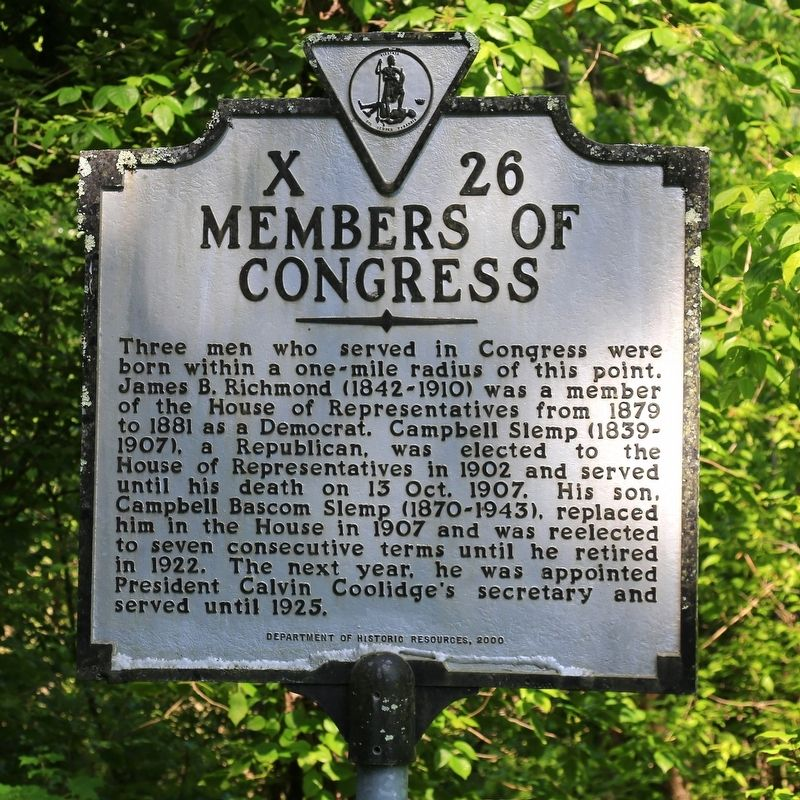 Members of Congress Marker image. Click for full size.