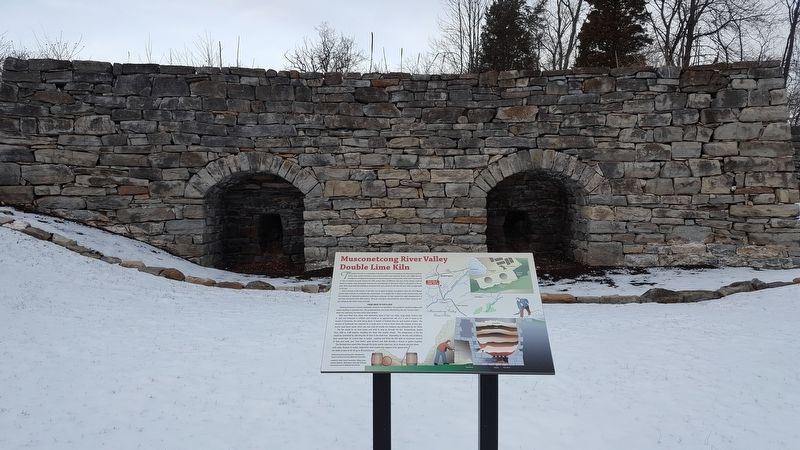 Musconetcong River Valley Double Lime Kiln Marker image. Click for full size.