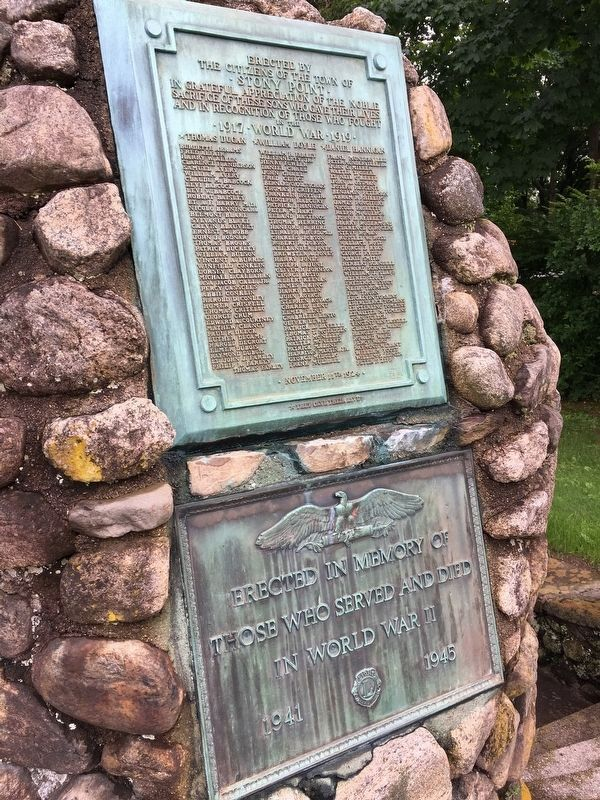 Veterans Memorials at Waldron Spring image. Click for full size.