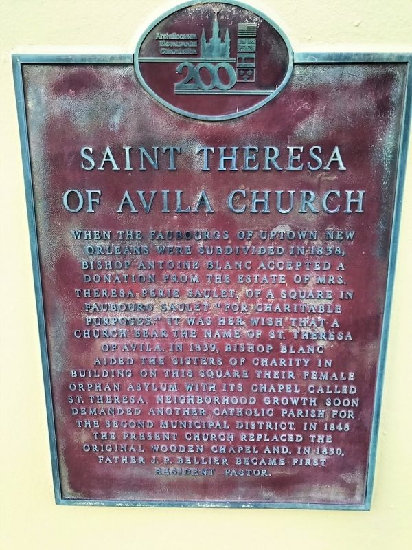 St. Theresa of Avila Church Marker image. Click for full size.