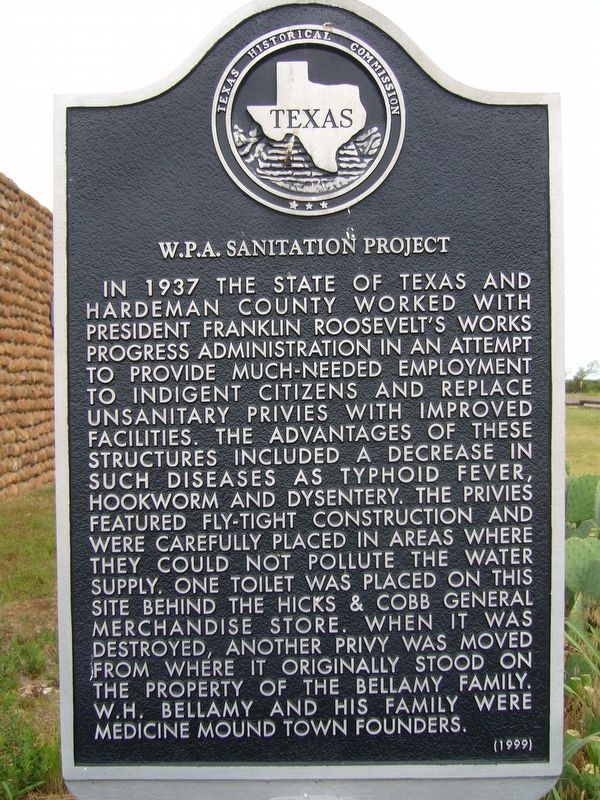 W. P. A. Sanitation Project Marker image. Click for full size.