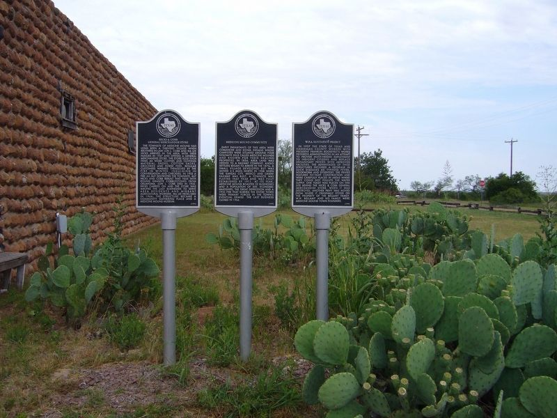 Three markers at Medicine Mound, Texas image. Click for full size.