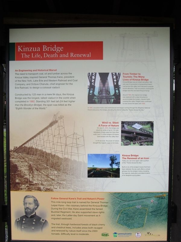 Kinzua Bridge Marker image. Click for full size.