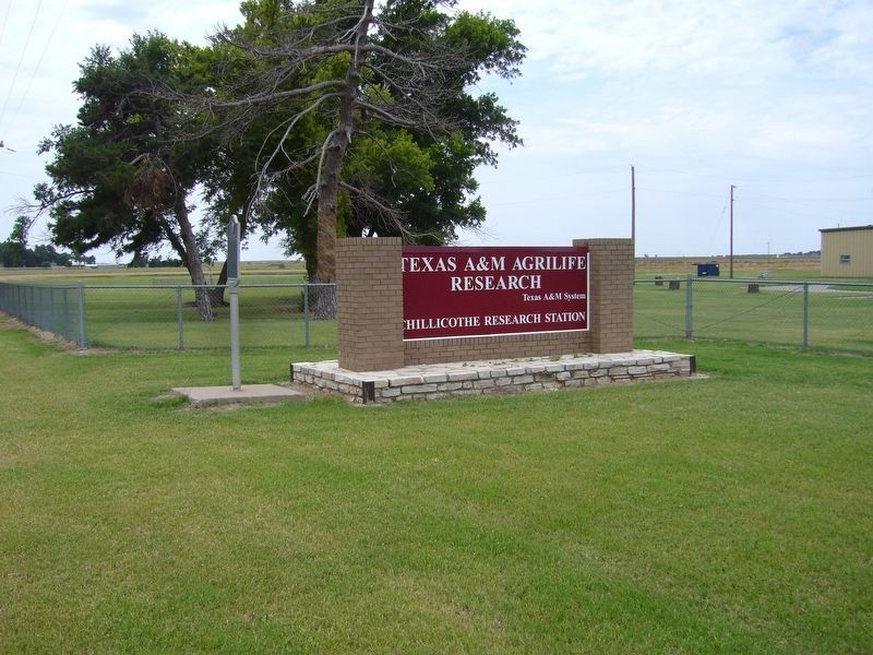 Texas Agricultural Experiment Station Marker image. Click for full size.