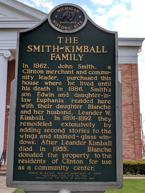 Jira Payne House / The Smith-Kimball Family Marker image. Click for full size.
