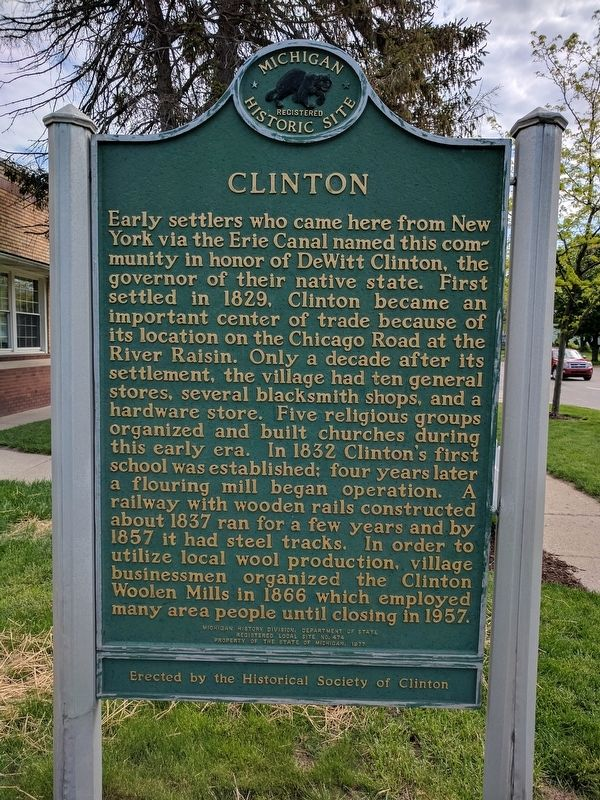Clinton / Site of the Clinton Inn Marker image. Click for full size.