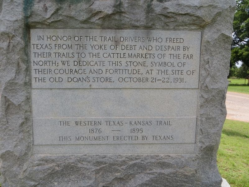 The Western Texas – Kansas Trail Marker image. Click for full size.