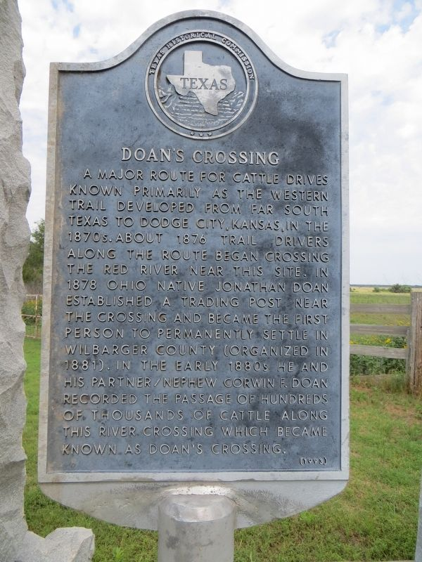 Doan's Crossing Marker image. Click for full size.