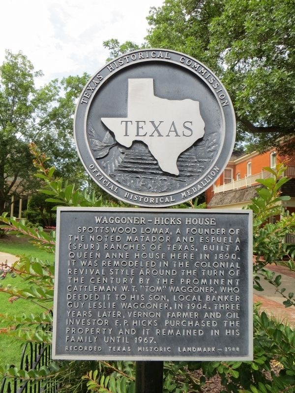 Waggoner-Hicks House Marker image. Click for full size.
