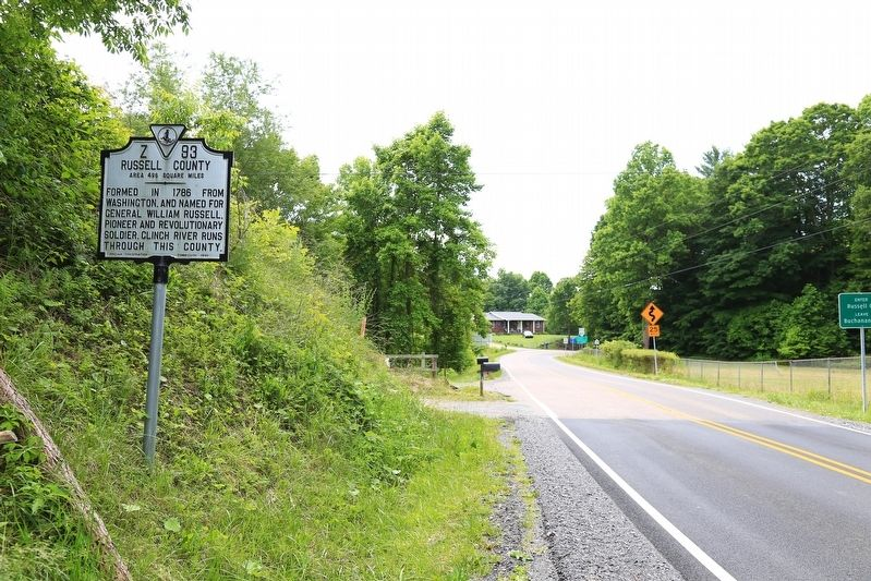 Buchanan County / Russell County Marker image. Click for full size.