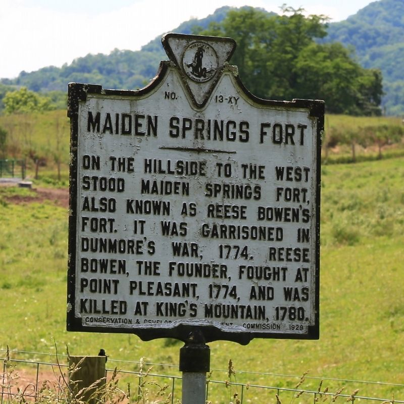 Maiden Springs Fort Marker image. Click for full size.