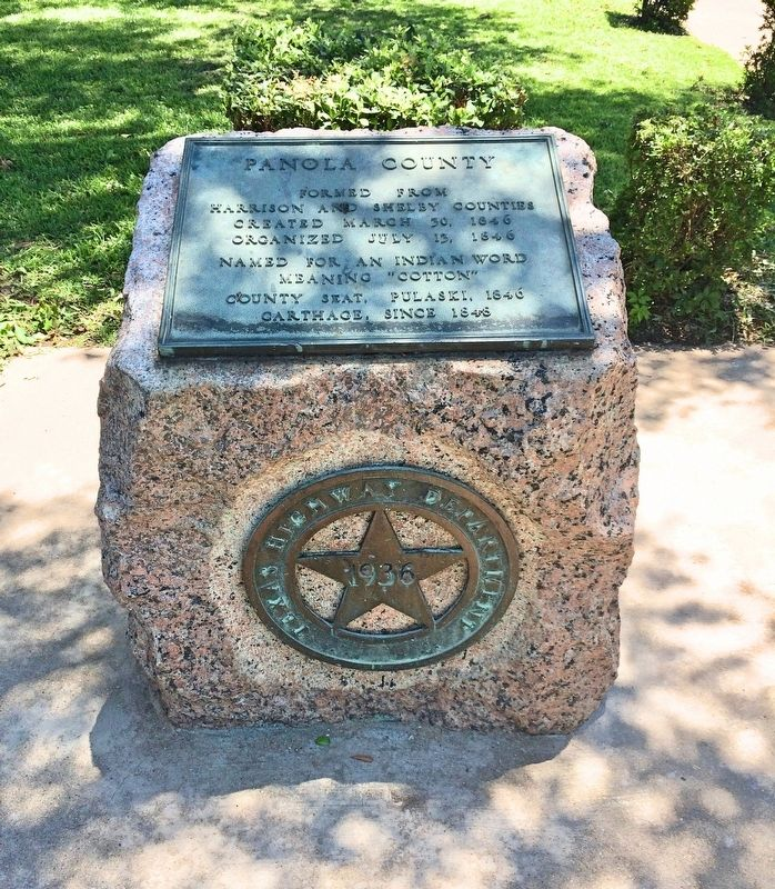 Panola County - 1936 Texas Centennial marker. image. Click for full size.