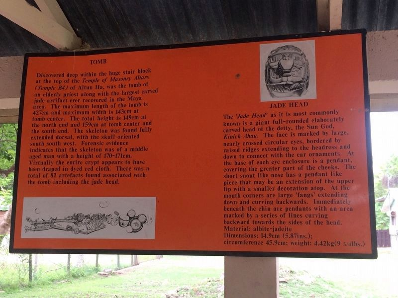 The Tomb of the Jade Head at Altun Ha Marker image. Click for full size.