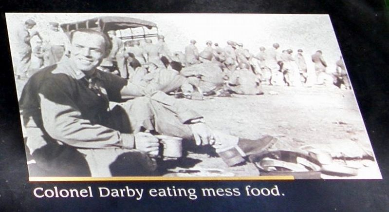 Insert - Colonel Darby chowing down image. Click for full size.