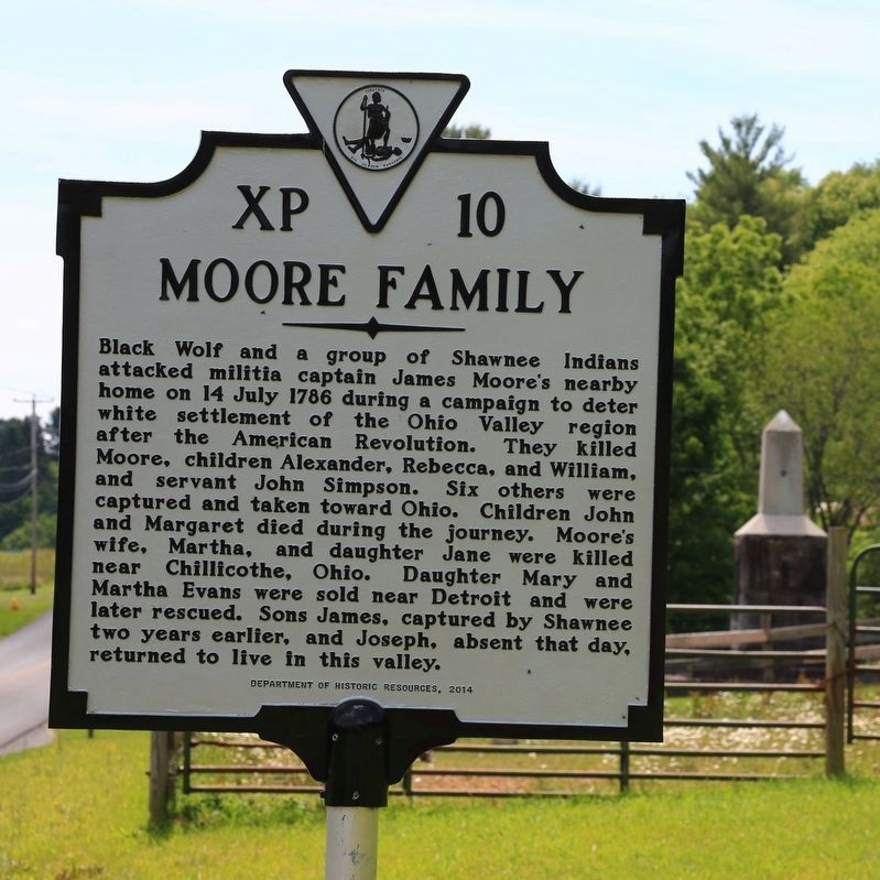 Moore Family Marker image. Click for full size.