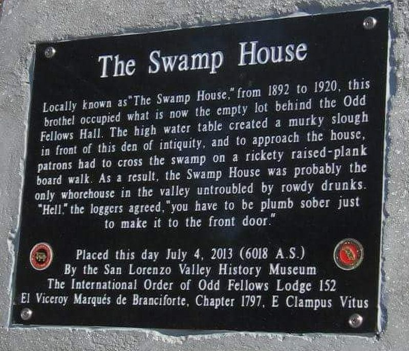 The Swamp House Marker image. Click for full size.