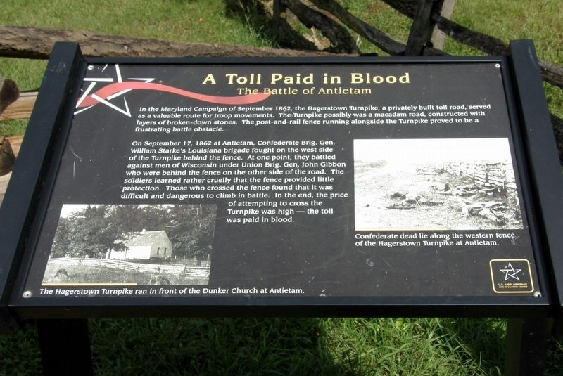 A Toll Paid in Blood Marker image. Click for full size.