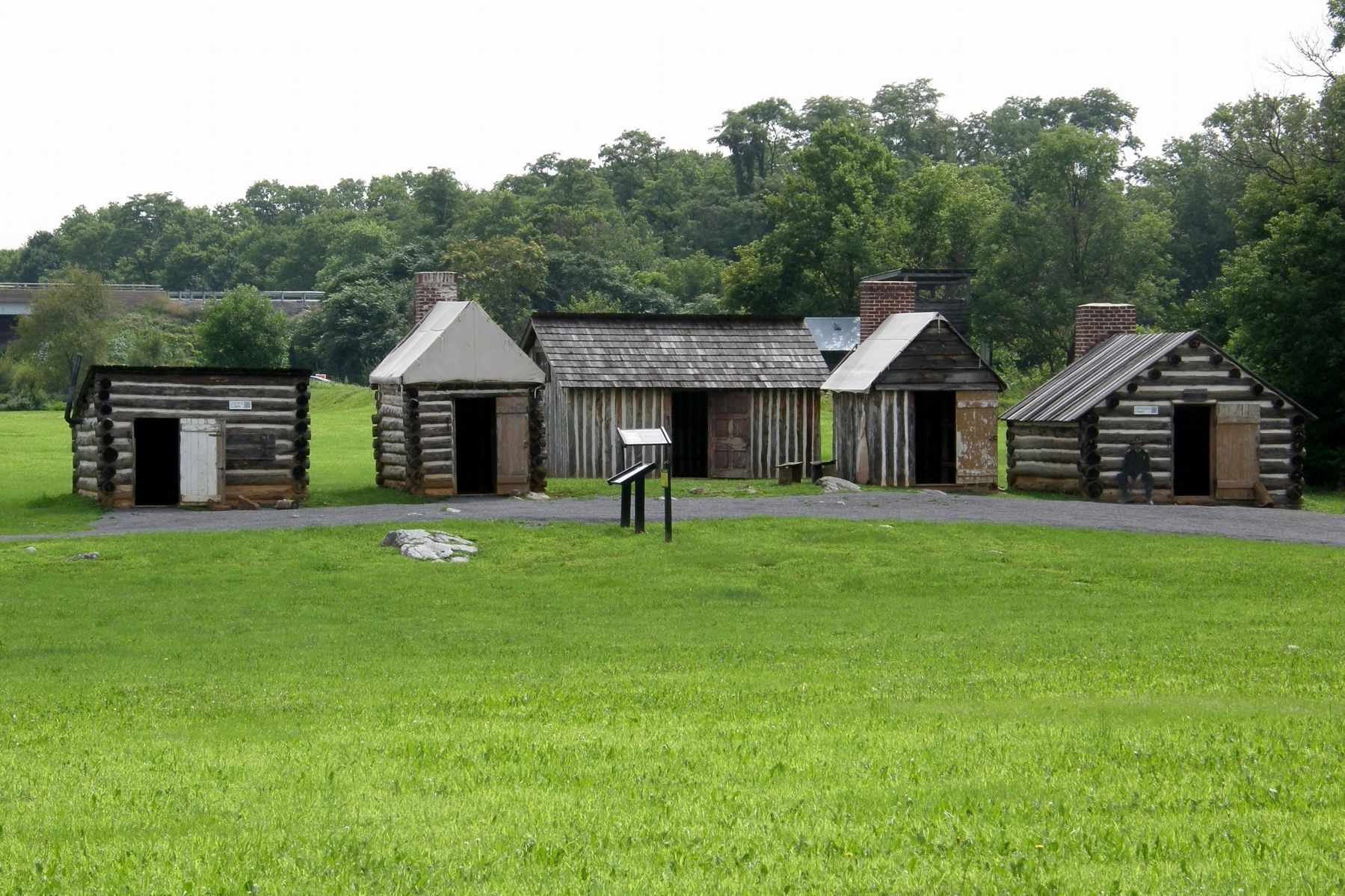 The Civil War Cabins display image. Click for full size.