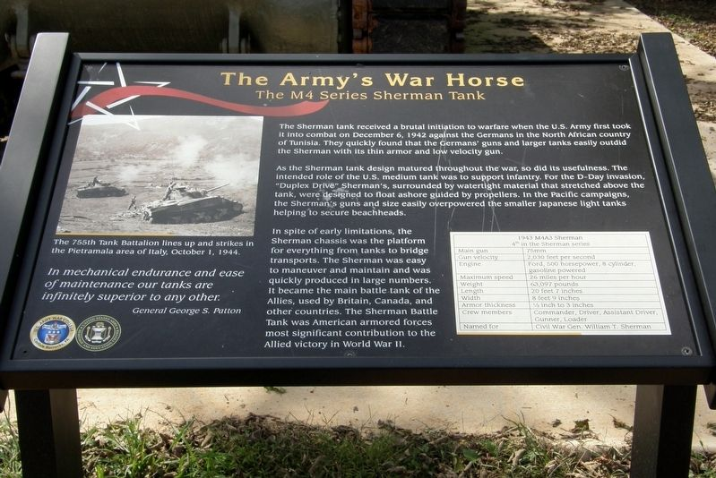 The Army's Work Horse Marker image. Click for full size.
