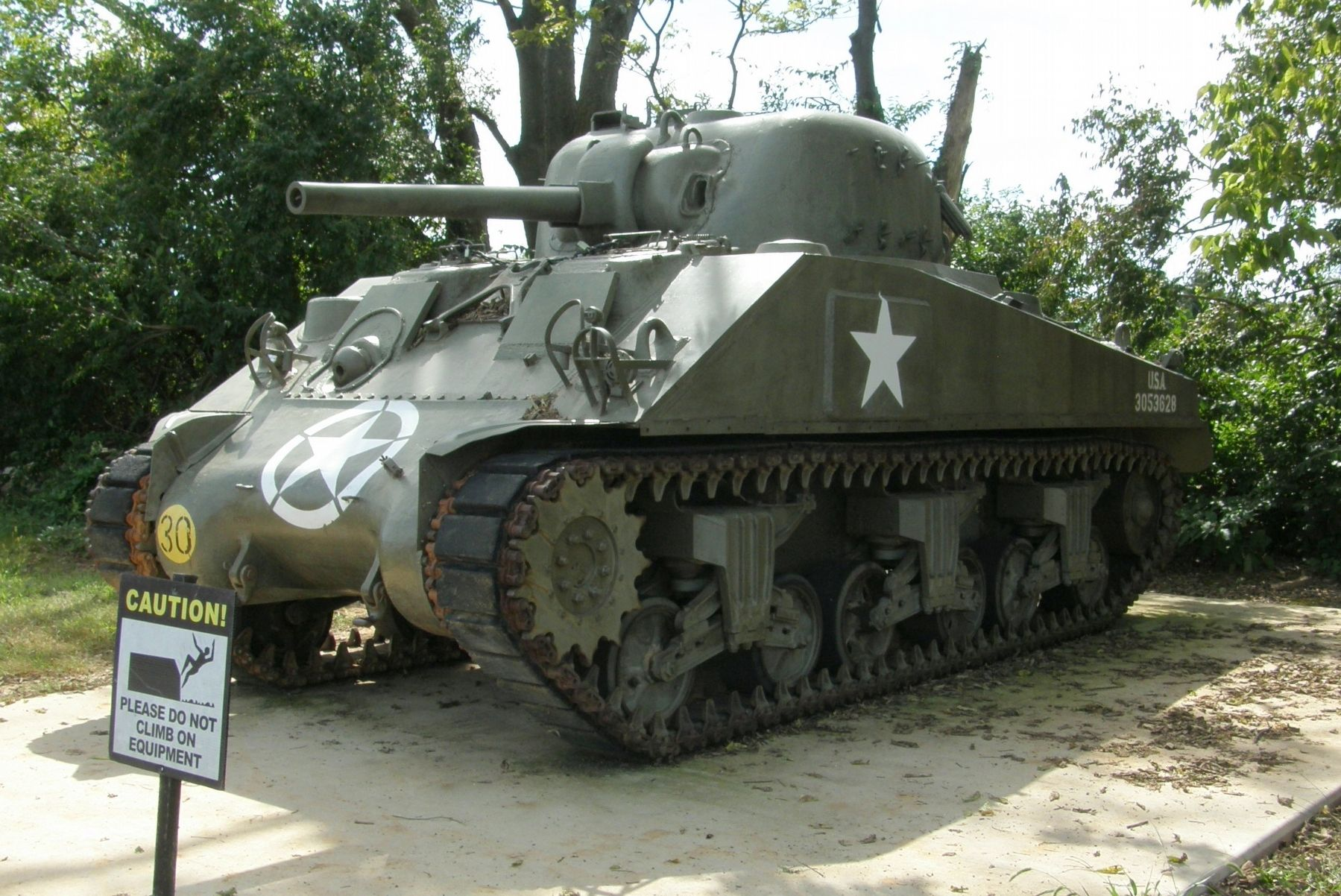 M4 Sherman on display image. Click for full size.