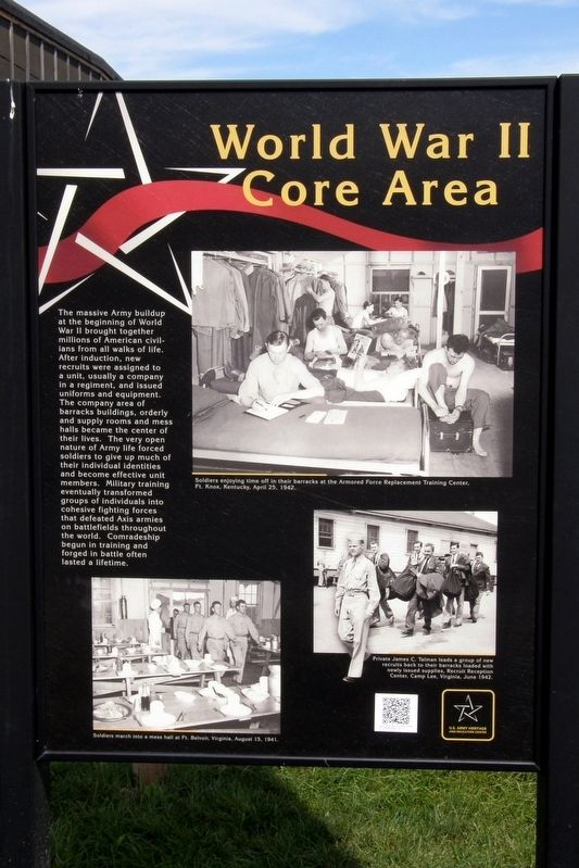 World War II Core Area Marker image. Click for full size.
