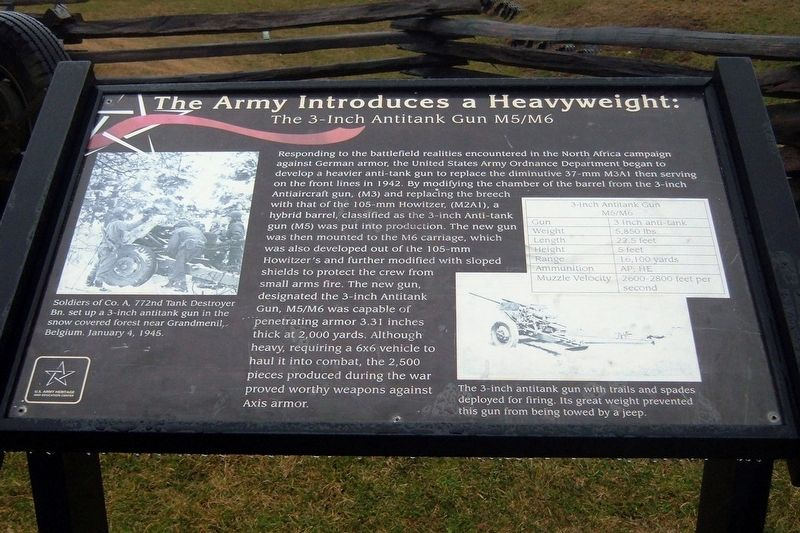 The Army Introduces a Heavyweight: Marker image. Click for full size.