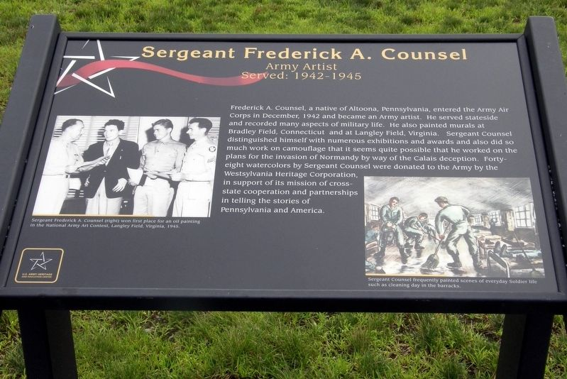 Sergeant Frederick A. Counsel Marker image. Click for full size.